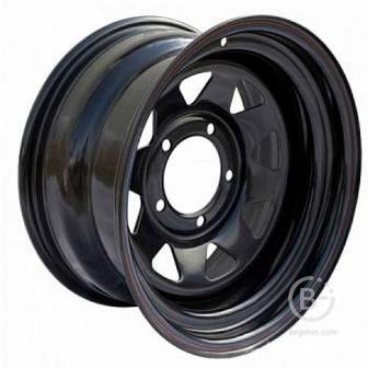 Диск УАЗ стальной черный 5x139,7 8xR15 d110 ET-25 (треуг. мелкий) OFF-ROAD Wheels