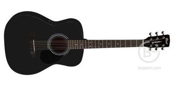 Электроакустическая гитара Cort AF510E BKS