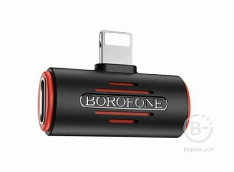 Аудио-Переходник Borofone BV6 dual Lightning.