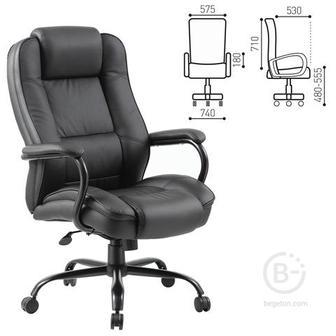 Кресло офисное BRABIX Heavy duty HD-002, усиленная конструкция, нагрузка до 200 кг, экокожа