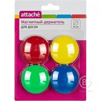 Магнитный держатель для досок Attache (диаметр 50 мм, 4 штуки в упаковке)
