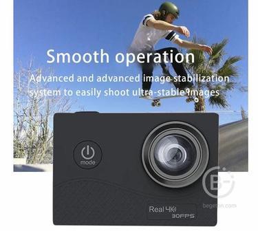 Q6H настоящий 4K высокой четкости • спортивный Камера замедленной съемки Камера маска для дайвинга для Водонепроницаемый Wi-Fi Пресс Экран 7 Стекло