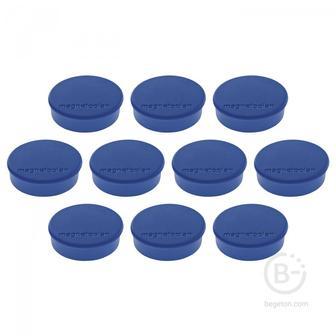 Магниты Hobby,d=25х8мм,сила 0,3кг,10шт./уп.,синие,карт.уп