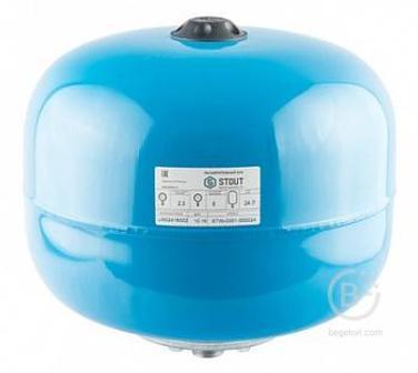 24 л Расширительный бак ,гидроаккумулятор , вертикальный (цвет синий) STOUT