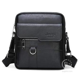 Мужская сумка через плечо Jeep Buluo (Черный)