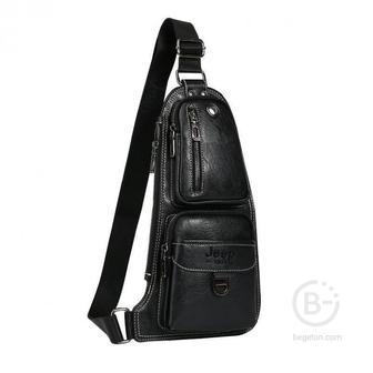 """Мужская сумка через плечо """"Jeep Buluo"""" (Чёрный)"""