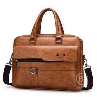 Мужская сумка портфель Jeep Buluo (Коричневый)