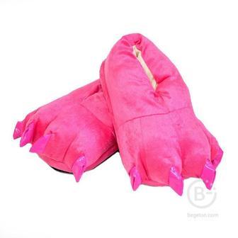 """Тапочки для кигуруми """"Ярко-розовые"""" (Размер 33-37)"""