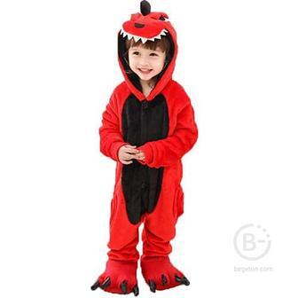 Кигуруми для детей Красный Дракон (120 см)