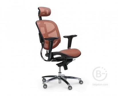Кресло NORDEN Стартрек, оранжевая сетка, премиальная (TS2301-10-7)