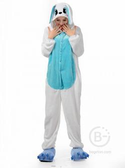 Пижама Кигуруми Кролик Бело-голубой (XL 178-188 см.)