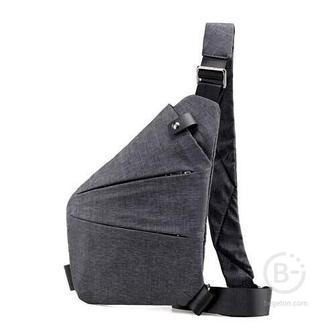 Мужская сумка-кобура через плечо 6016-1 (Серый)