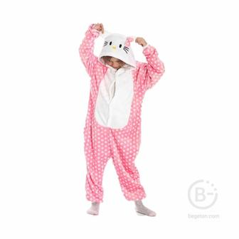 Детская Пижама Кигуруми Hello Kitty (105 см.)