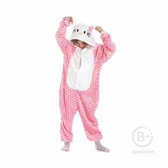 Детская Пижама Кигуруми Hello Kitty (115 см.)