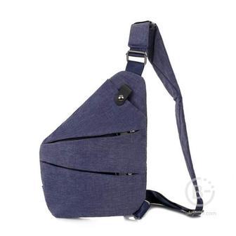 Мужская сумка-кобура через плечо 6016-1 (Синий)