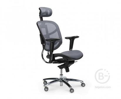 Кресло NORDEN Стартрек, серая сетка, премиальная (TS2301-10-2)