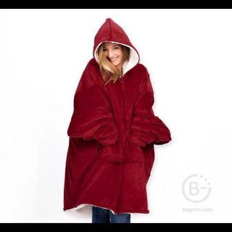 """Толстовка-плед с капюшоном """"Huggle Hoodie"""" (Красный)"""