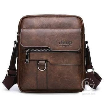 Мужская сумка через плечо Jeep Buluo (Тёмно-коричневый)