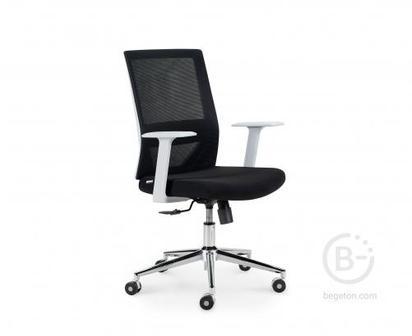 Кресло NORDEN Трэнд grey LB, серый пластик, серая сетка, черная ткань (CH-220B-HS-OA2016*OS800)