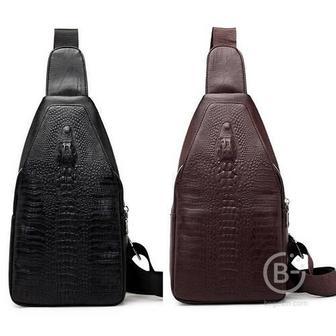 Мужская сумка через плечо PI616 (Темно-коричневый)