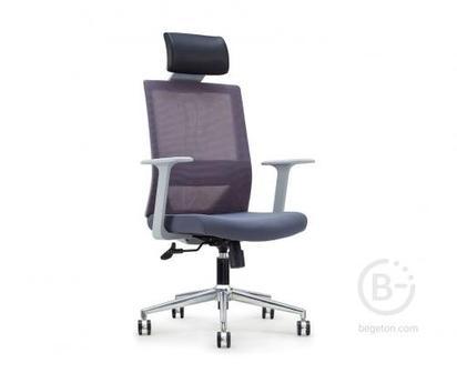 Кресло NORDEN Трэнд gray, серый пластик, серая сетка, серая ткань (CH-220A-HS-OA2016*АК30-64)
