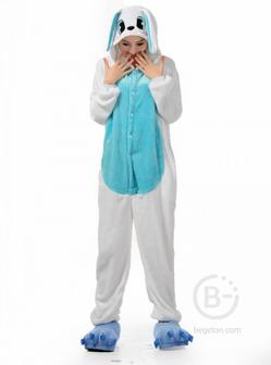 Пижама Кигуруми Кролик Бело-голубой (L 168-178 см.)