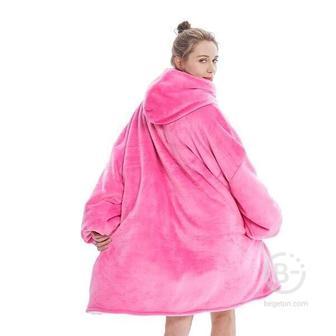 "Толстовка-плед с капюшоном ""Huggle Hoodie"" (Розовый)"