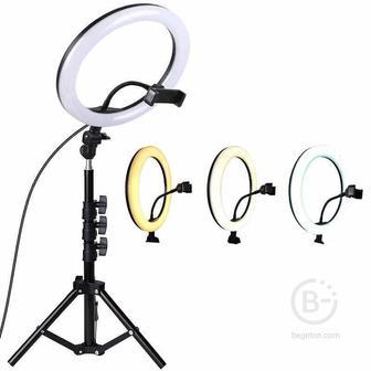 Кольцевая лампа со штативом Ring Fill Light с пультом ДУ (48 см)