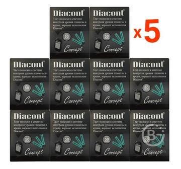 Скидка 29% на Тест-полоски Диаконт Концепт 50 упаковок по 50 штук (Diacont Concept)
