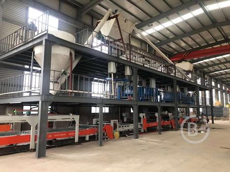 Автоматическая линия по производству стекломагниевого листа (СМЛ) из Китая