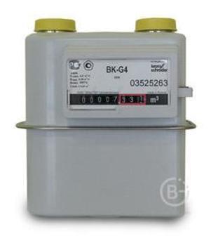 Счетчик газа BK-G4 бытовой диафрагменный (левый)