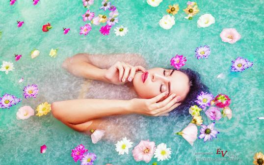 Шиммер (пудра) для ванной- цвет бирюза