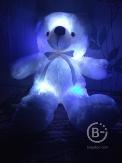 Медведь светящийся, плюшевый, мягкая игрушка