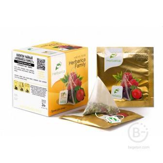 Напиток чайный Herbarica Family время для семьи 12 пирамидок в саше-конвертах 24 гр