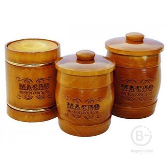 Вологодское масло 82,5% 500 гр в мореном бочонке ВМК