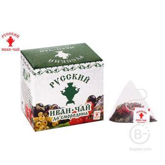 Русский Иван-Чай да смородина 20 гр. 10 пирамидок в саше-конвертах