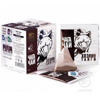 Чага-чай Хозяин Тайги 24 гр. 12 пирамидок в саше-конвертах
