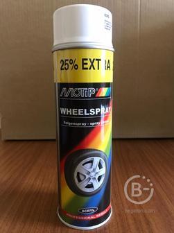 Быстросохнущая акриловая краска для дисков MOTIP белая 0,5л