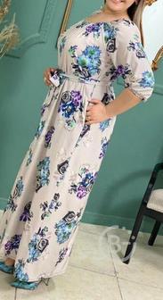Длинное платье большого размера р-ры 56-66