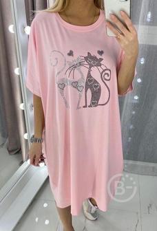 Лёгкое трикотажное платье р-ры 48-66