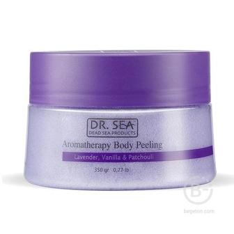 Пилинг для тела ароматический Dr.Sea с маслами лаванды, ванили и пачули 320мл
