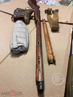 Деревянное ложе винтовки Мосина 1943 года в отличном сохране.