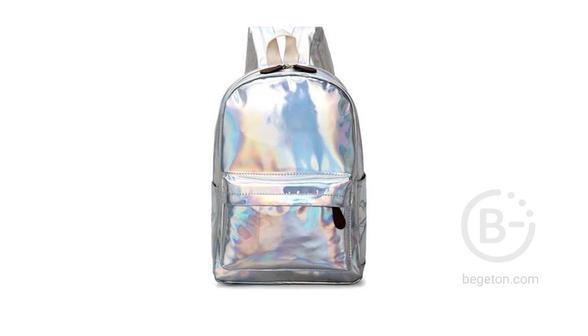 Рюкзак-блестящий-белый
