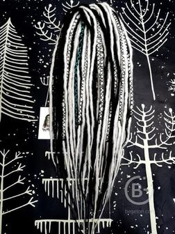 ДЕ дреды под натуральные, микс + инсталляция нитью, тонкий