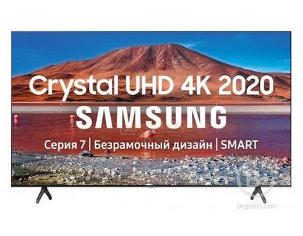 ТЕЛЕВИЗОР SAMSUNG 43 UHD, VA, SMART TV , ЗВУК (20 ВТ (2X10 ВТ)), 2XHDMI, 1XUSB, 1XRJ-45, PQI 2000. Ч 34190 руб.