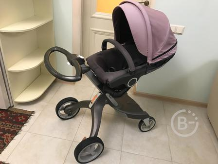 Продаю детскую коляску STOKKE (два в одном) + чехол от дождя