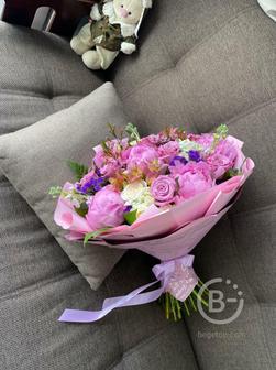 Цветы Липецк букет с пионами