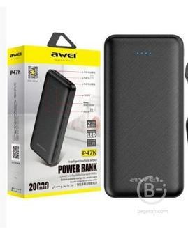 Внешний аккумулятор Awei p47k 20000 mAh новый