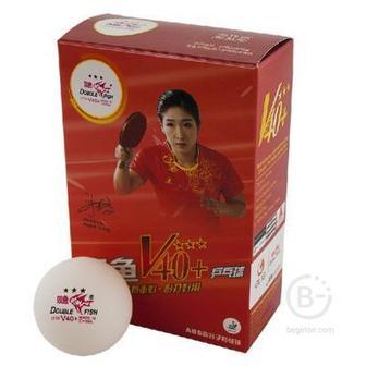 Мяч для настольного тенниса Double Fish  World Cup 3 звезды 40 плюс мм, 6 штук в упаковке, белые