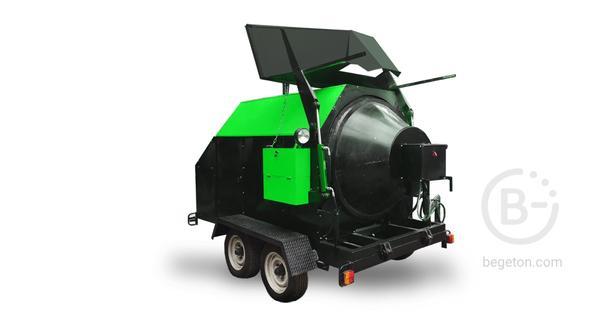 Рециклер  Ticab РА-800 мини асфальтный завод (На раме)